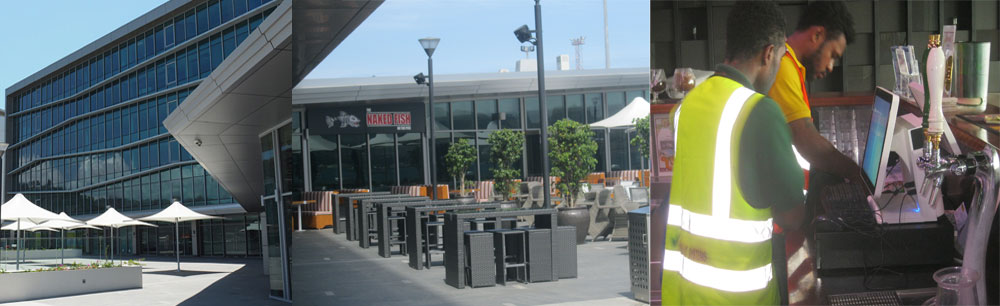 THE NAKED FISH RESTAURANT, PORT MORESBY  - Computer Network Cabling & Virtual IT Systems Point of Sale Installations - 2016